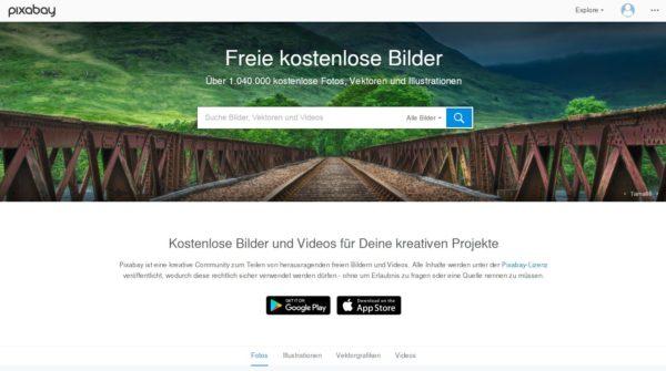 pixabay die kostenlose Bilddatenbank